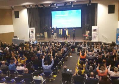 Meedoen tijdens de theatervoorstelling, Congres,organiseren, evenementenbureau Utrecht 247EVENTS.NL