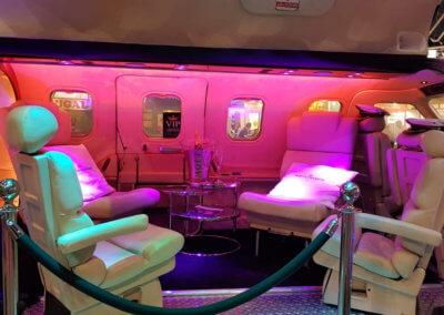 Close-up van de VIP bar in The Xplane