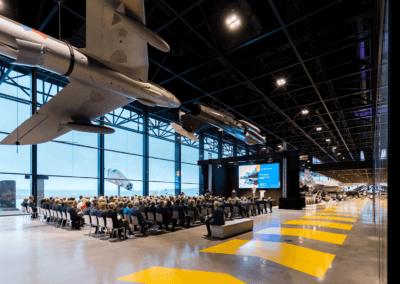 Evenementenlocatie Nationaal Militair Museum - Uw presentatie tussen de gevechtsvliegtuigen