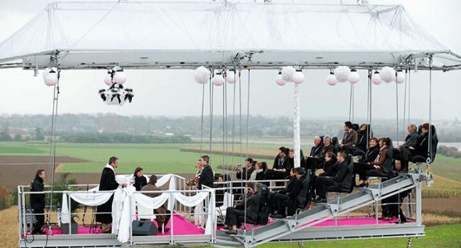 Bedrijfsuitje Amsterdam, Utrecht, Den Haag, Rotterdam - Wedding-in-the-sky - Trouwen op zwevend platform