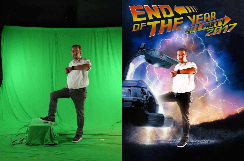Greenscreen foto studio huren - Back to the Future events