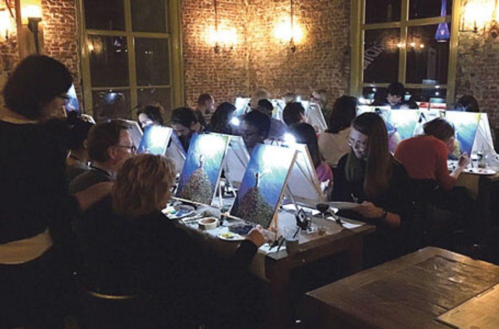 Schilder workshop organiseren als bedrijfsuitje of teambuilding.8