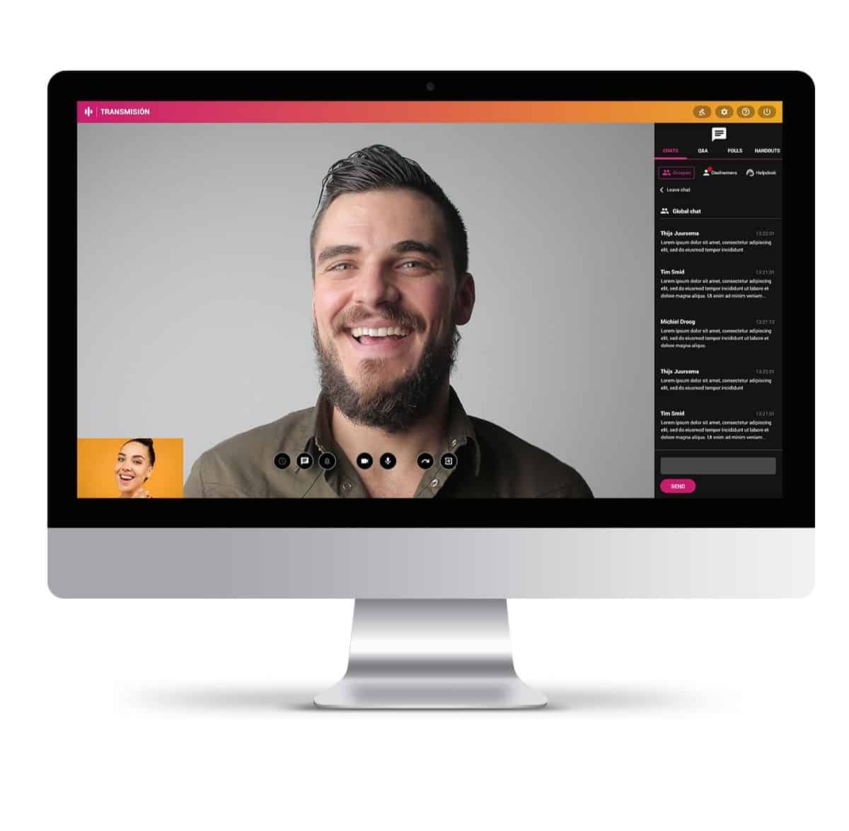 Online evenement organiseren webinar met meerdere deelnemers en een chatbalk voor interactie