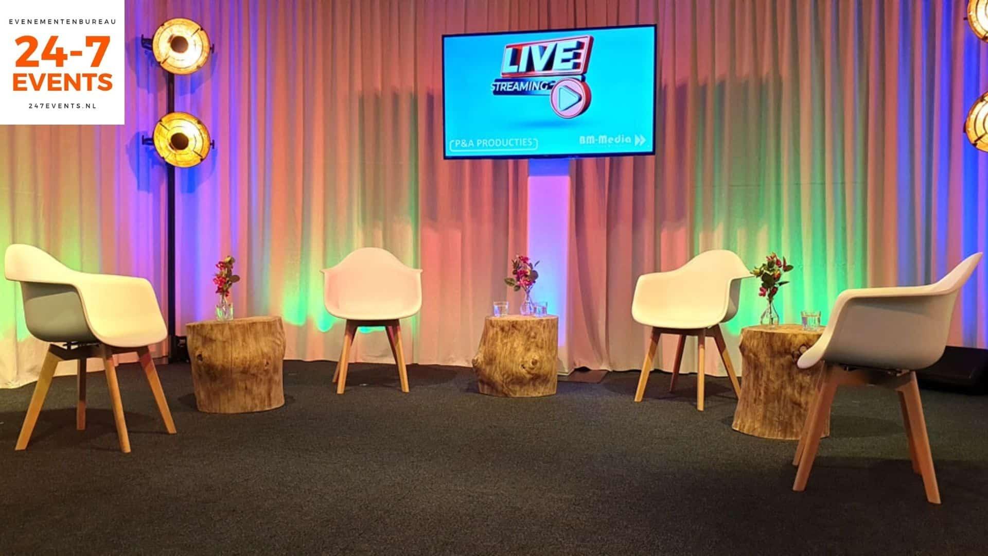 Livestream studio in Utrecht met een zitjes opstelling
